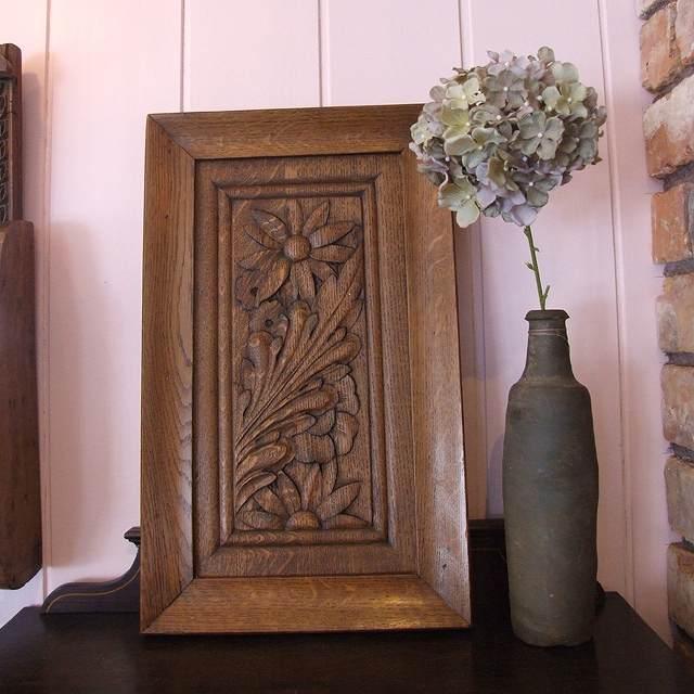 アンティーク 木彫り 壁飾り 有名な イギリス ディスプレイ インテリア ニッチ 玄関 リビング 実物