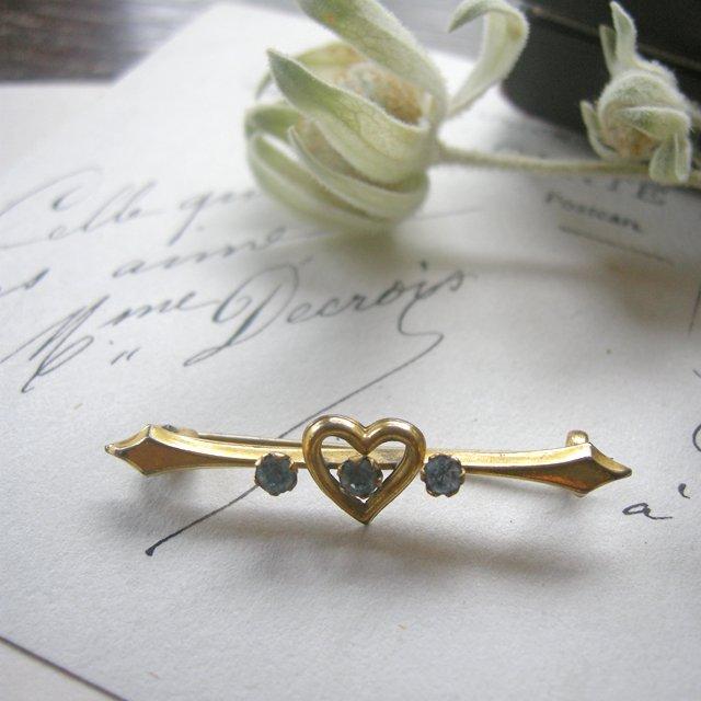 アンティーク ブローチ アクセサリー ジュエリー ゴールド ハート イギリス プレゼント 胸元 襟 贈り物 母の日 スカーフ留め クリスマス 誕生日 敬老の日 ホワイトデー
