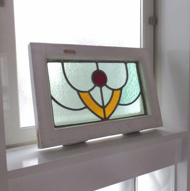アンティーク 採光 ステンドグラス イギリス 窓 ガラス 建具 明かりとり 教会 チャペル