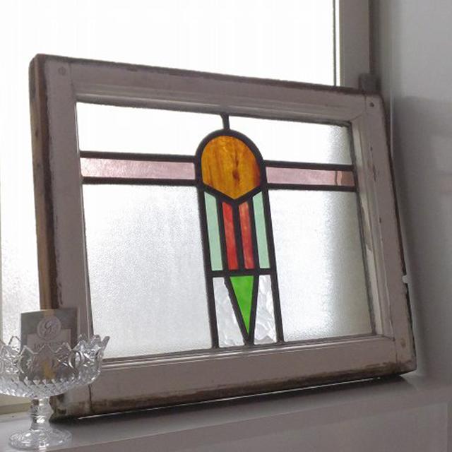 ステンドグラス 建具 ガラス ステンドグラス 窓 採光 明かりとり イギリス アンティーク 教会 チャペル