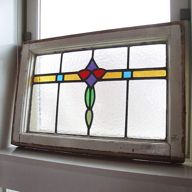 アンティーク ステンドグラス イギリス ガラス 窓 採光 明かりとり 建具 教会 チャペル:ドルフィンスクエア
