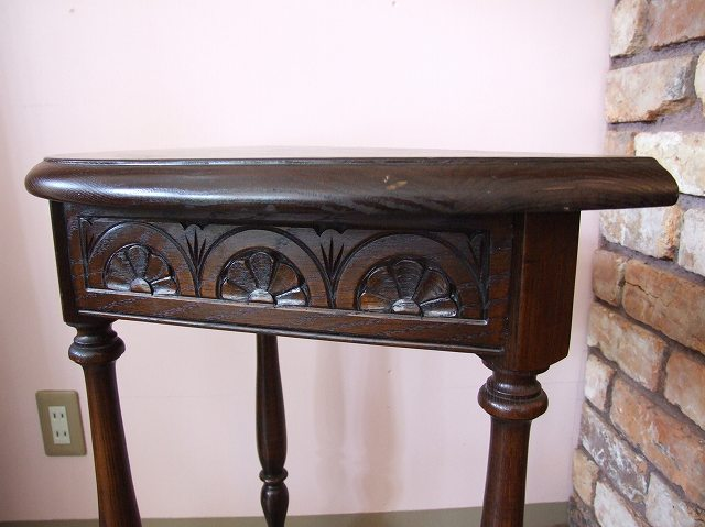 Antique Console Table Desk Oak Semicircle Type France Table Living Bedside  Half Moon Present Gift