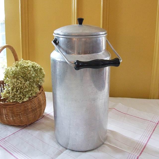 アンティーク ミルク缶 アルミ フランス キッチン雑貨 フラワーベース ディスプレイ インテリア 母の日 花器 プレゼント 牛乳 小物入れ