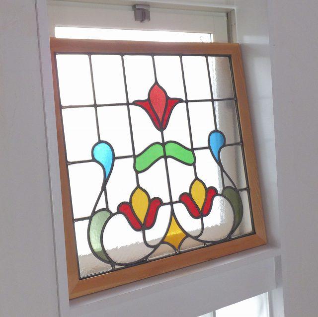 アンティーク 建具 ステンドグラス イギリス 窓 ガラス 明かりとり 採光 教会 チャペル