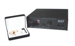 吃音改善をサポート スムーズなしゃべりを促す発話リード装置 DAF+フルーエント・スピーカー耳かけ式 セット