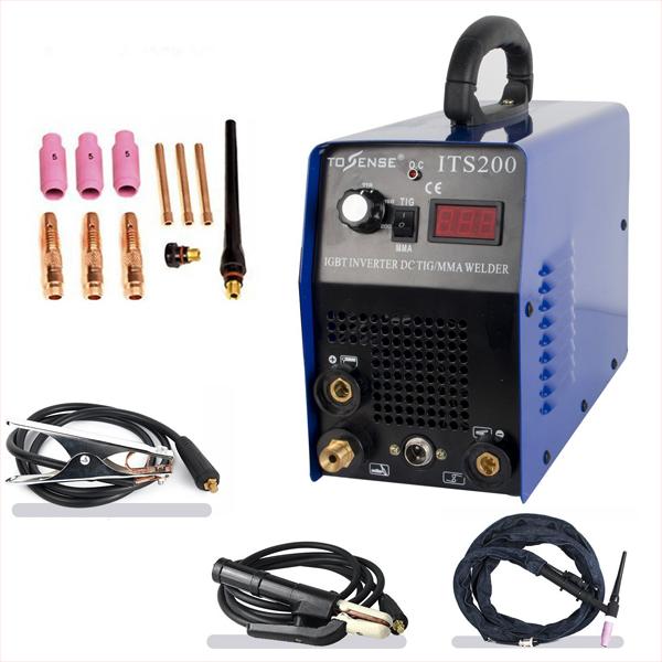 TIG/MMA/ Arc/Stick溶接機 ITS200 2in1ステンレス/炭素鋼溶接装置 100/200V