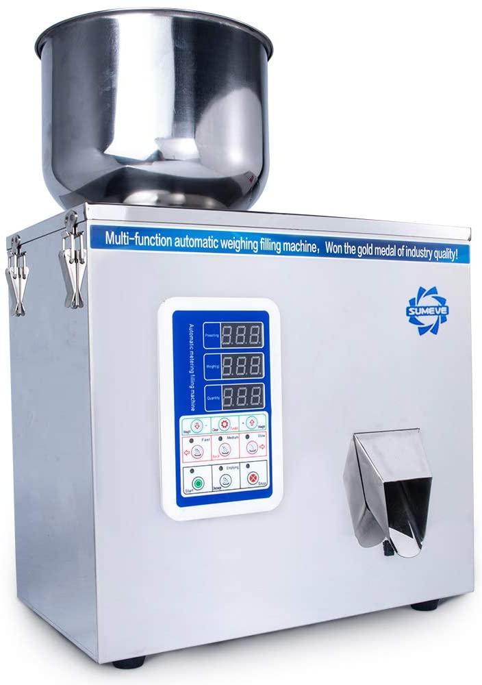 Sumeve POWDER-200 充填範囲1-200g 多機能顆粒充填機 粉体充填機 粉末充填機 パウダー充填機g 顆粒粉末計量および包装 大容量充填 100v