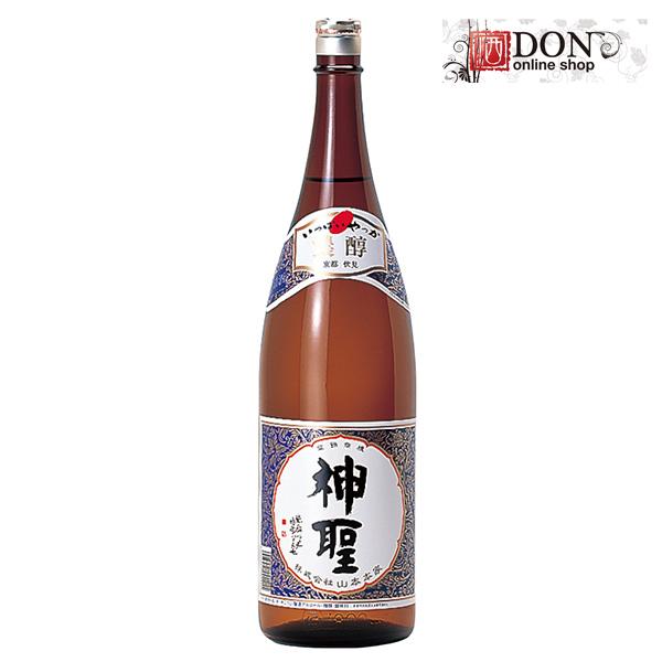 丰富的山、 神圣的清酒这尽管国内大米 1800 毫升