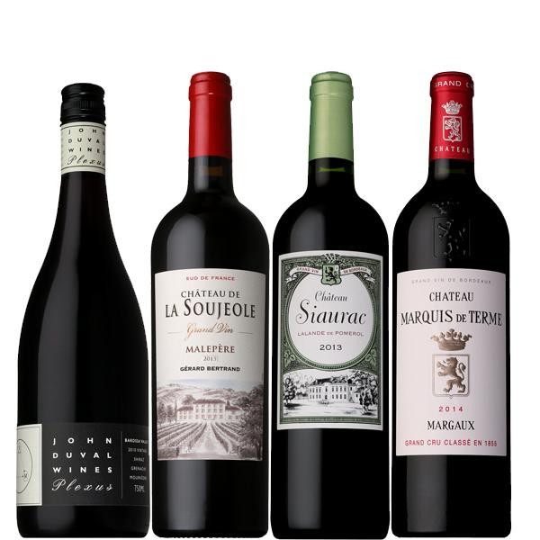 [送料無料]星付きレストラン採用ワイン赤ワイン4本セット[フランス オーストラリア ワインセット]