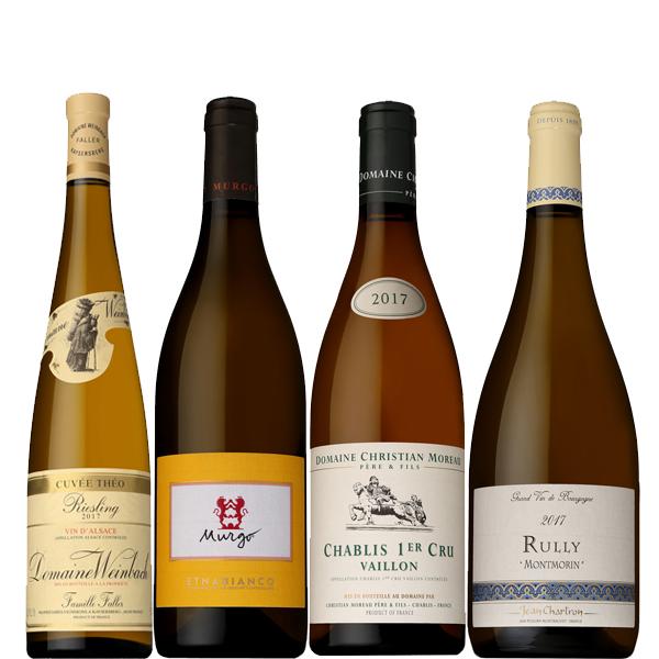 [送料無料]星付きレストラン採用ワイン白ワイン4本セット[フランス イタリア ワインセット]