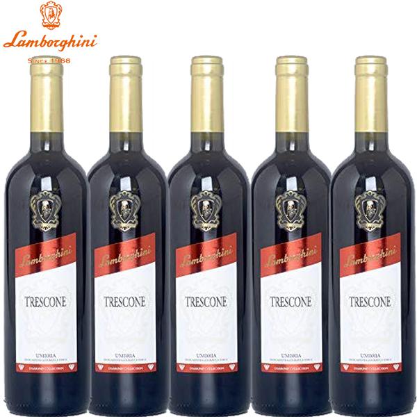[送料無料]ランボルギーニ トレスコーネ ウンブリア ロッソ 750ml×5本[イタリア ウンブリア 赤ワイン ウンブリア産 ブドウ品種 ブレンド ミディアム フルボディ]