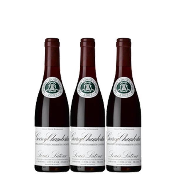 【送料無料】ルイ・ラトゥール ジュヴレ シャンベルタン 375ml×3本 ※数量限定【フランス ブルゴーニュ 赤ワイン フルボディ ACジュヴレ・シャンベルタン ハーフボトル】