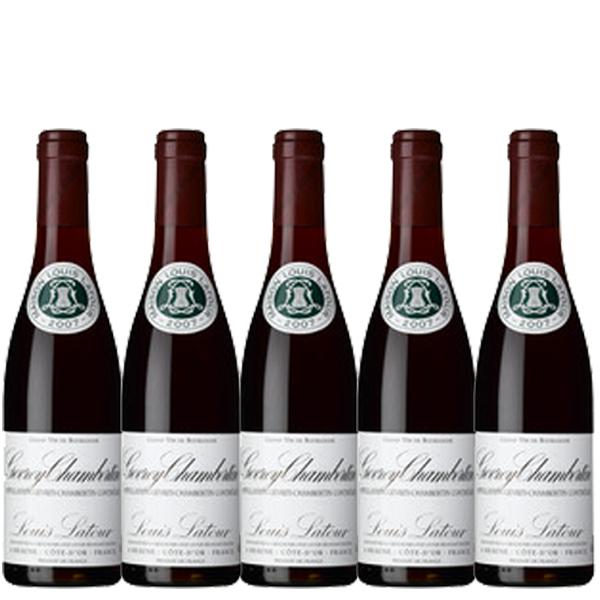 【送料無料】ルイ・ラトゥール ジュヴレ シャンベルタン 375ml×5本 ※数量限定【フランス ブルゴーニュ 赤ワイン フルボディ ACジュヴレ・シャンベルタン ハーフボトル】