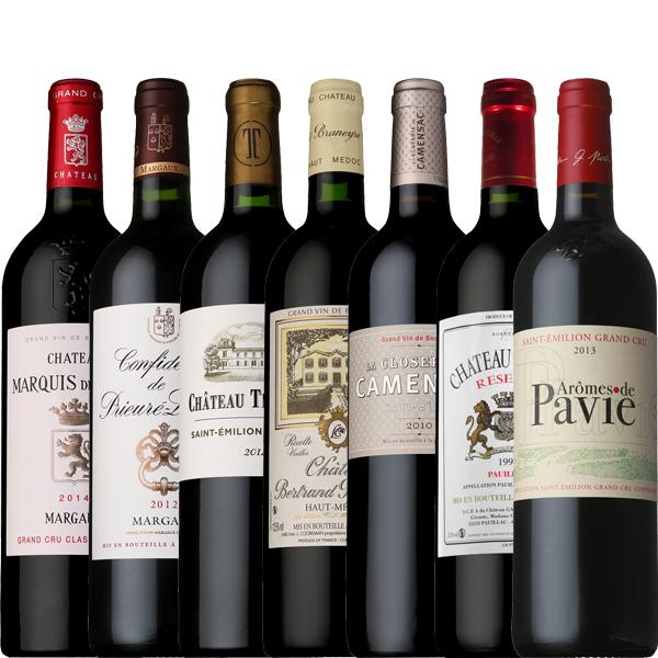 【送料無料】飲み頃&お手頃シャトーから格付けセカンド!今飲みたいボルドーワイン7本セット!750ml×7本【フランス ボルドー 赤ワイン ミディアム フルボディ】