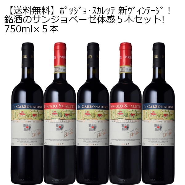 [送料無料][10セット限定]銘酒のサンジョベーゼ体感5本セット!750ml×5本[イタリア トスカーナ サンジョベーゼ フルボディ 赤ワイン ワインセット キャンティクラシッコ 銘酒]