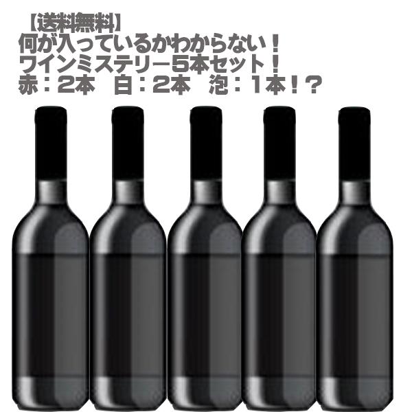 【送料無料】】何が入っているかお楽しみ!ワインミステリー5本セット3!【ワインセット お任せ 赤ワイン 白ワイン スパークリング 父の日】