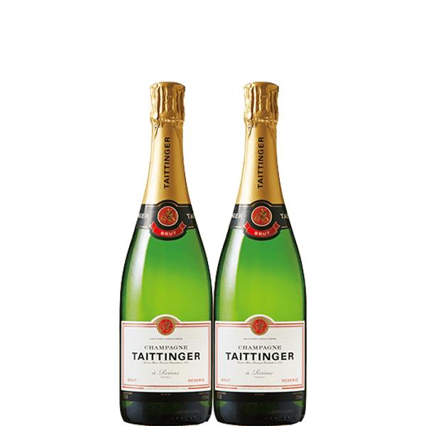 【送料無料】テタンブリュット レゼルヴ 750ml×2本【フランス シャンパン シャンパーニュ 辛口 】