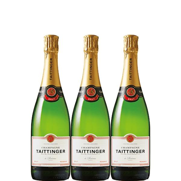 【送料無料】テタンブリュット レゼルヴ 750ml×3本【フランス シャンパン シャンパーニュ 辛口 】