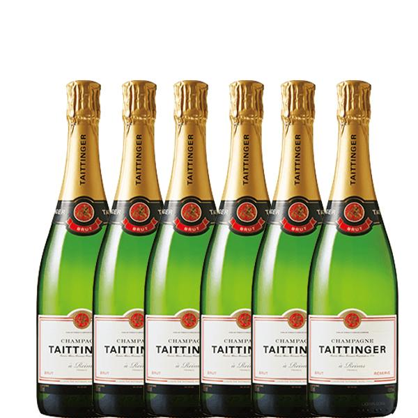 【送料無料】テタンブリュット レゼルヴ 750ml×6本【フランス シャンパン シャンパーニュ 辛口 】