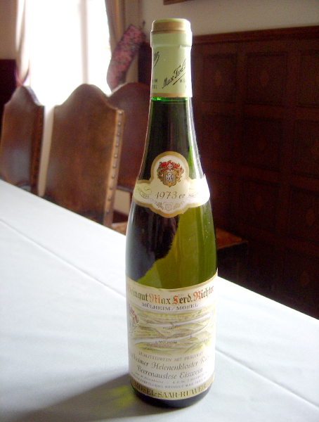 Mulheimer helenencro star Riesling which iced 1973 years white ultra sweet 375 ml Germany
