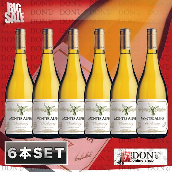 montesu·阿爾法霞多麗幹白葡萄酒智利白葡萄酒750ml 葡萄酒安排