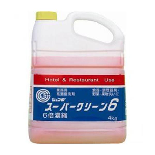 【送料無料】ジェフダ スーパークリーン6 4kg×4セット(食器用洗剤)JFDA 業務用