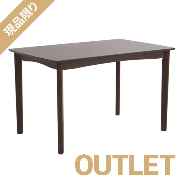 \ 1品限りのアウトレット大幅値下げ /ダイニングテーブル[カラー] ブラウン[サイズ] 幅120cm※テーブルのみの販売※脚、天板角に傷あり (使用に問題なし) ynd-001-t-br