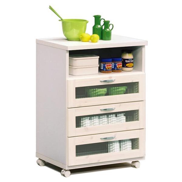 【送料無料】60キッチンカウンター (WH/BR) コンパクトサイズのキッチンカウンター。パインのやさしい風合いとガラス扉が特徴的。キャスター付きで移動も楽々。【日本製】【完成品】