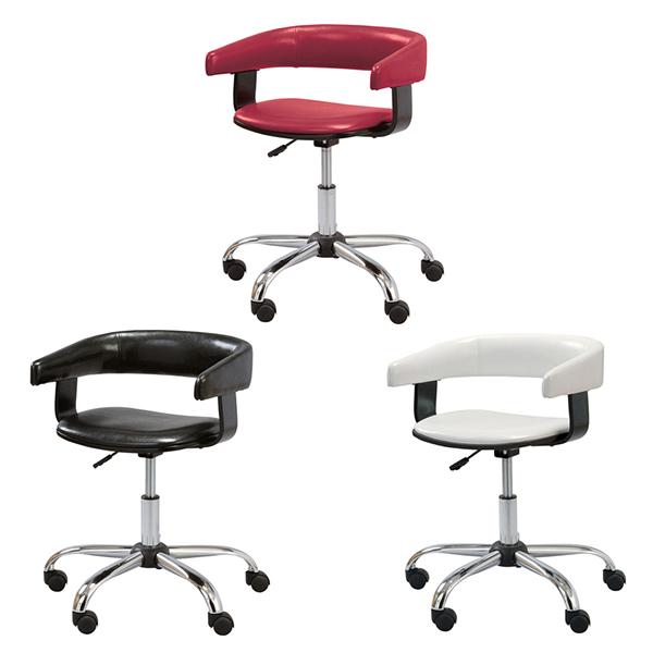 【送料無料】デスクチェア デスクチェアー オフィスチェア オフィスチェアー レッド 椅子 イス いすミーティングチェア キャスター 肘付 アームチェア アメリカン おしゃれ ブラック ホワイト 赤 白 黒 昇降