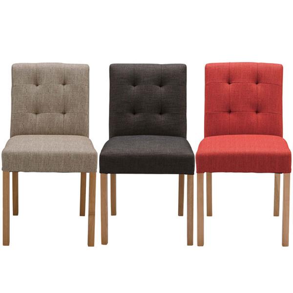【送料無料】ダイニングチェア (RD/BE/BR) チェアー チェア ダイニングチェアー 家具 インテリア 食卓椅子 いす イス 椅子 ダイニング 木製 布製 1人掛けレッド ベージュ ブラウン 北欧 レトロ シンプル