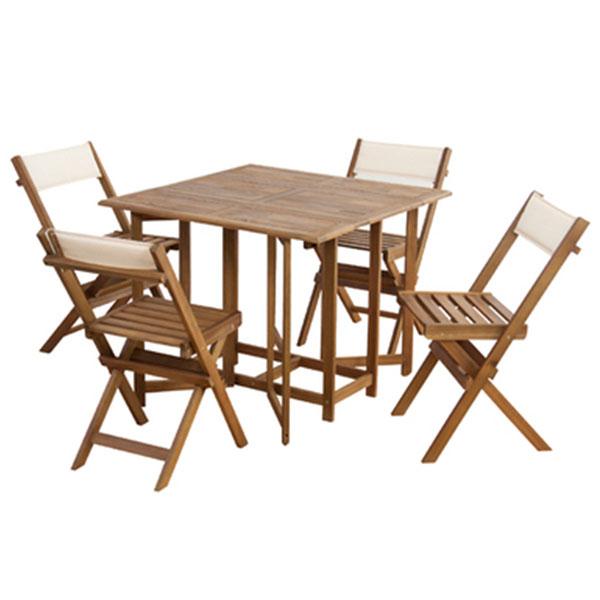 コンパクトに収納可能な省スペース ダイニング5点セット テーブルとチェア4脚のセット セット ダイニングセット ダイニングテーブル ダイニングチェア 家具 ナチュラル 【送料無料】ダイニング5点セット ダイニングテーブル テーブル チェア セット 5点 北欧 おしゃれ 天然木 木製テーブル 木製 ウッドテーブル アカシア オイル仕上 インテリア テーブルとイス 食卓セット