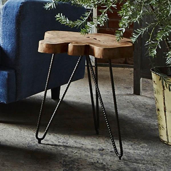 【送料無料】サイドテーブル サイド テーブル 机 ソファーサイド ベッドサイド ミニテーブル ナイトテーブル スタイリッシュ 木製 ナチュラル 変形 おしゃれ ソファーサイド ベットサイド