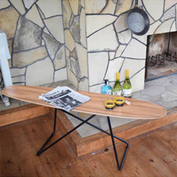 【送料無料】テーブル サイドテーブル コーヒーテーブル つくえ 机 リビングテーブル 幅117cm 家具 カフェ風 インテリア 西海岸 ビンテージ風 ヴィンテージ風 スケボー スケートボード