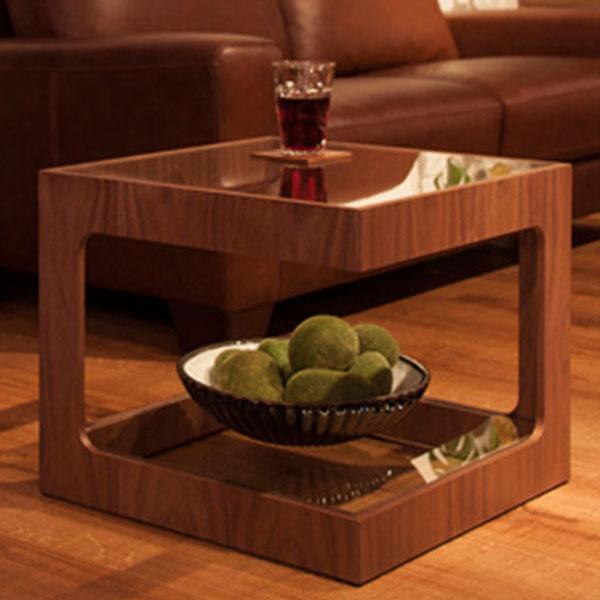 【送料無料】サイドテーブル ガラス テーブル ガラステーブル ベッドサイド ソファーサイド 机 つくえ シンプル インテリア 家具 北欧 花台 観葉植物 カフェテーブル デザイン スタンダード 木製