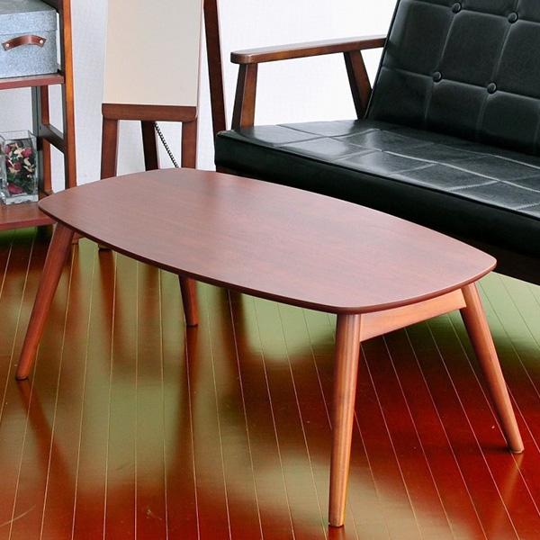 【送料無料】リビングテーブル ウォールナット使用、人気のカフェスタイルテーブル。