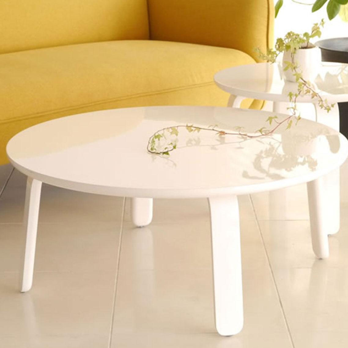 【送料無料】85 リビングテーブル 円形 ウォールナット ダイニングテーブル カフェ 食卓テーブル ダイニング テーブル 木製 幅115 ワークデスク