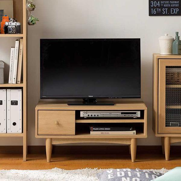 【送料無料】80 テレビボード テレビ台 ローボード 北欧風の大人ナチュラルインテリア 約幅80cmの小型サイズ ナチュラル 配線穴付き ~32型対応 DVD22枚収納可能 北欧、ナチュラル、シンプル、レトロ、カントリー