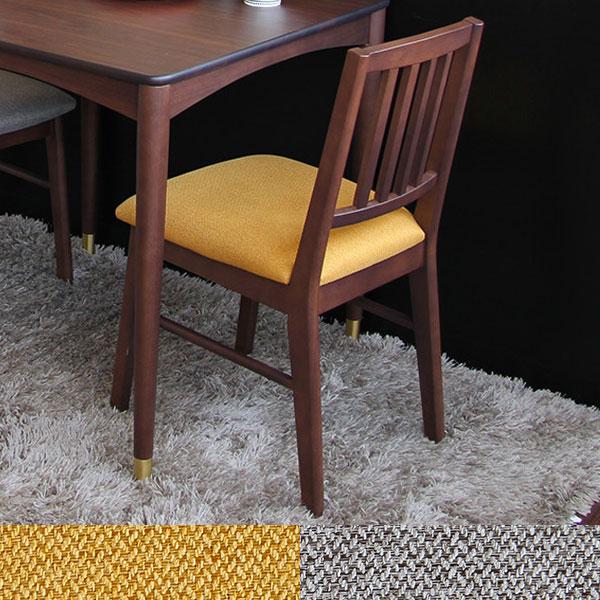 【送料無料】ダイニングチェアー (YL/GY) チェア イス 椅子 いす デスクチェア シンプル 食卓椅子 イエロー グレー ファブリック生地 ダイニングチェア レトロ/ミッドセンチュリー/ノスタルジック/シンプル/北欧 座面高44.5cm