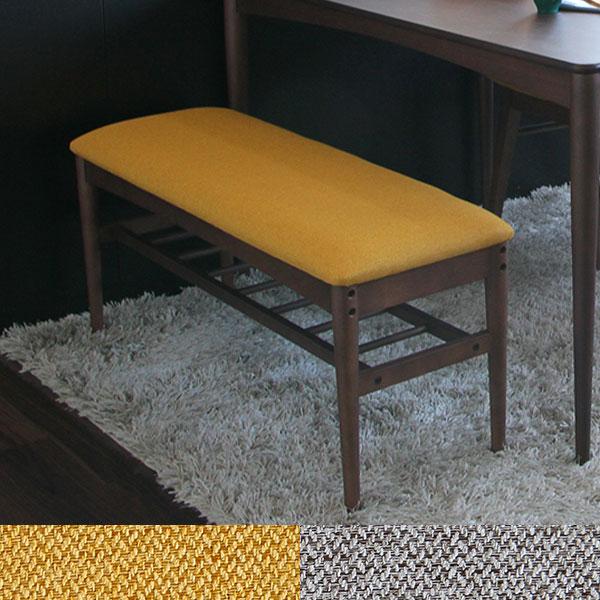 2019年最新海外 【送料無料】ベンチ (YL (YL/GY)/GY) ダイニングベンチ 幅100cmの2人掛けサイズ イエロー イエロー グレー ブラウン家具 グレー ダイニングチェアとしてだけでなく、玄関や壁際での使用も◎ 長椅子 レトロ/ノスタルジック/クラシック/シンプル/北欧 座面高45.5cm, 潮風オレンジ:14beeeae --- clftranspo.dominiotemporario.com