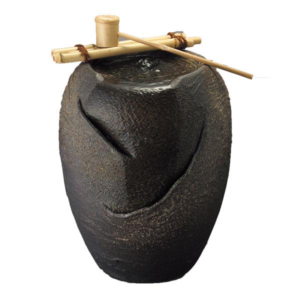 【送料無料】信楽焼 流水 陶器 竹しゃく付き