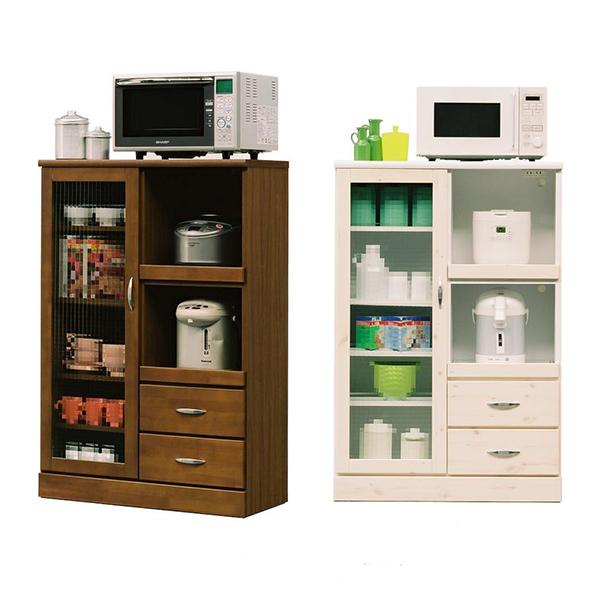 【送料無料】80レンジ台 (BR/WH) シンプルで活用性があるキッチンレンジ台。可愛さも兼ね備えた、一人暮らしの方にはピッタリのサイズ感★ブラウンでシックなお部屋に、ホワイトでキュートなお部屋に。コンパクトなので、場所
