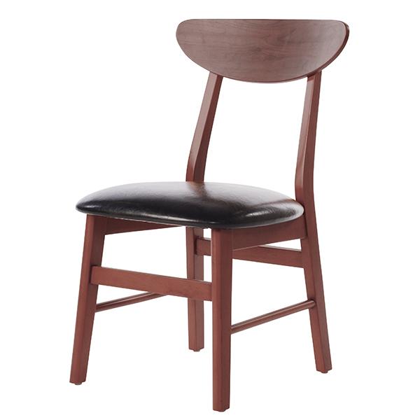 【送料無料】ダイニングチェア 2脚セット チェア チェアー ダイニングチェアー 椅子 肘なし デスクチェア 作業イス イス いす 食卓椅子 木製 レトロ 北欧 おしゃれ 茶系 合成皮革 ミディアムブラウン カフェ風