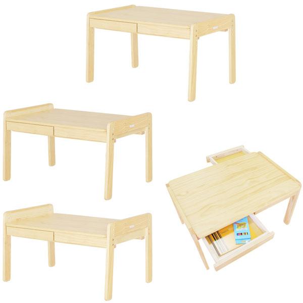 【送料無料】ラージデスク キッズデスク キッズテーブル キッズ用デスク 大きい こども 机 テーブル ナチュラル 木製 norsta ノスタ 引き出し付 大きめ 子供用テーブル キッズ用テーブル お絵かき机 お絵かき