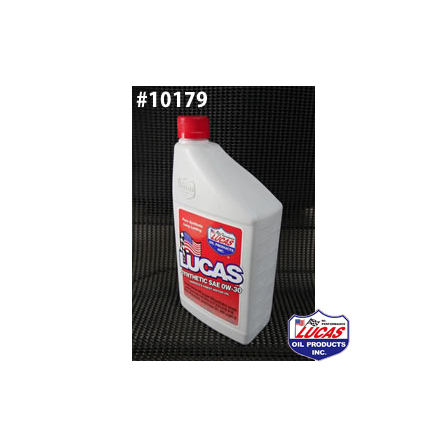 ルーカス モーター オイル LUCAS OIL ルーカスオイル SAE 0W-30 MOTOR OIL LUCAS SYNTHETIC  1クォートx6本(6クォート) #10179
