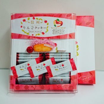 【送料無料】信州りんごクッキー32枚入×16個(信州長野県のお土産 お菓子 お取り寄せ スイーツ りんごクッキー おみやげ 林檎クッキー 洋菓子)