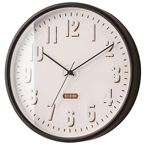 【150円クーポン】 INTERFORM インターフォルム 壁掛け時計 ポラント ブラック CL-2540BK <インターフォルム 新生活応援 インテリア 掛け時計 掛時計 かけ時計 電波 壁掛け おしゃれ 北欧 黒>