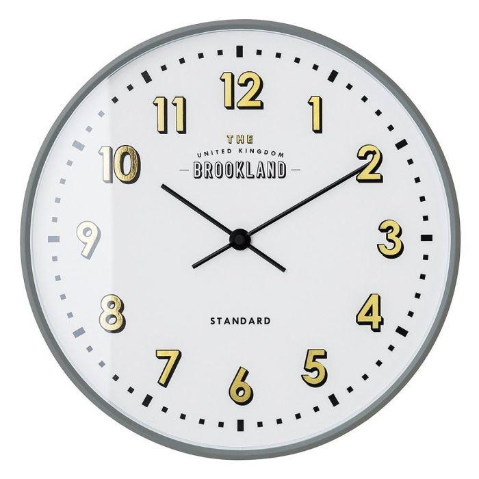 【150円クーポン】 INTERFORM インターフォルム 壁掛け時計 ロレト グレー CL-2542GY <インターフォルム 新生活応援 インテリア 掛け時計 掛時計 かけ時計 電波 壁掛け おしゃれ 北欧 プラスチック>