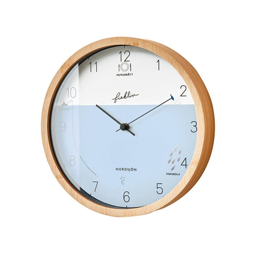【150円クーポン】 INTERFORM インターフォルム 掛け時計 ナチュラル 直径25×奥行5 Fiskliv フィスクリヴ CL-3027 <インターフォルム 新生活応援 インテリア おしゃれ 北欧 プラスチック 掛時計 かけ時計>