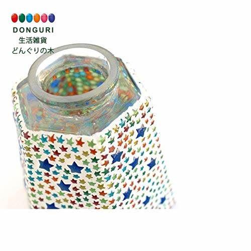 【150円クーポン】 トモコーポレーション モザイクハンギングランプ 六角 スター カラフル 60W 12918831008