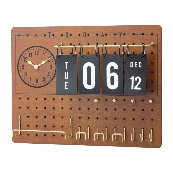 【150円クーポン】 INTERFORM インターフォルム 掛け時計 Lidgate リドゲート ブラウン CL-2141BN <インターフォルム 新生活応援 掛時計 かけ時計 壁掛け おしゃれ 北欧 音がしない 連続秒針 インテリア プラスチック>